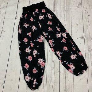 NEW Jasmine Black Floral Wide Leg Harem Pants